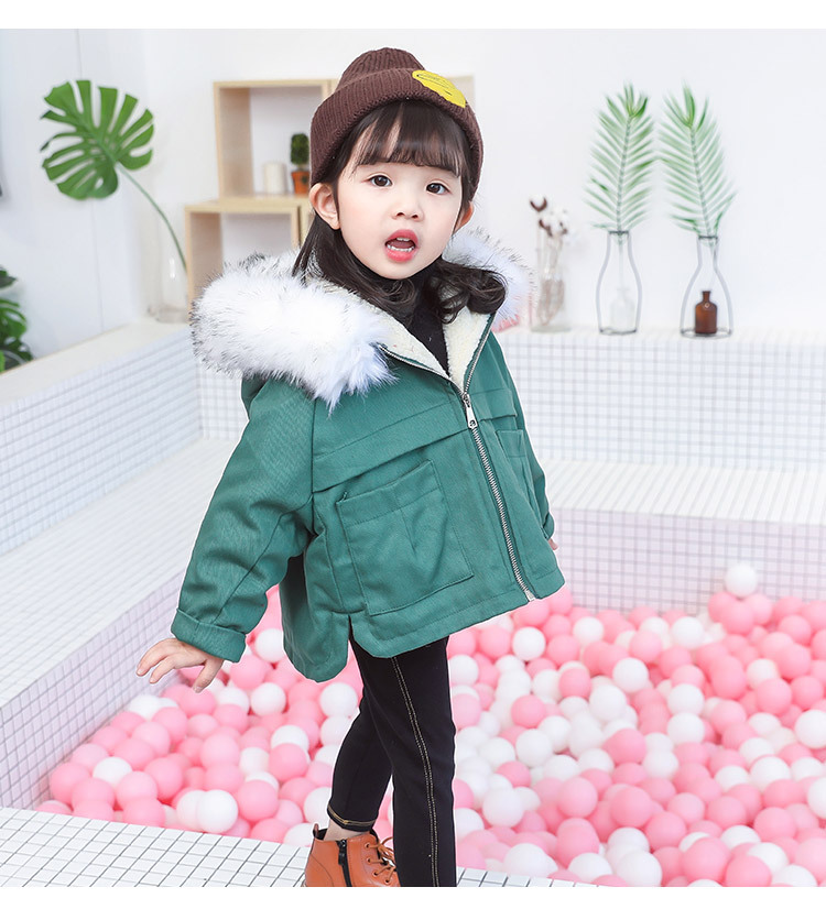 KISBINI Baby Girl Winter Denim Jacket Hooded Korean Baby Clothes Kids 2018 Faux Fur Girls Fur Coat 2 3 4 5 6 Years faux fur jacket baby blumarine faux fur jacket