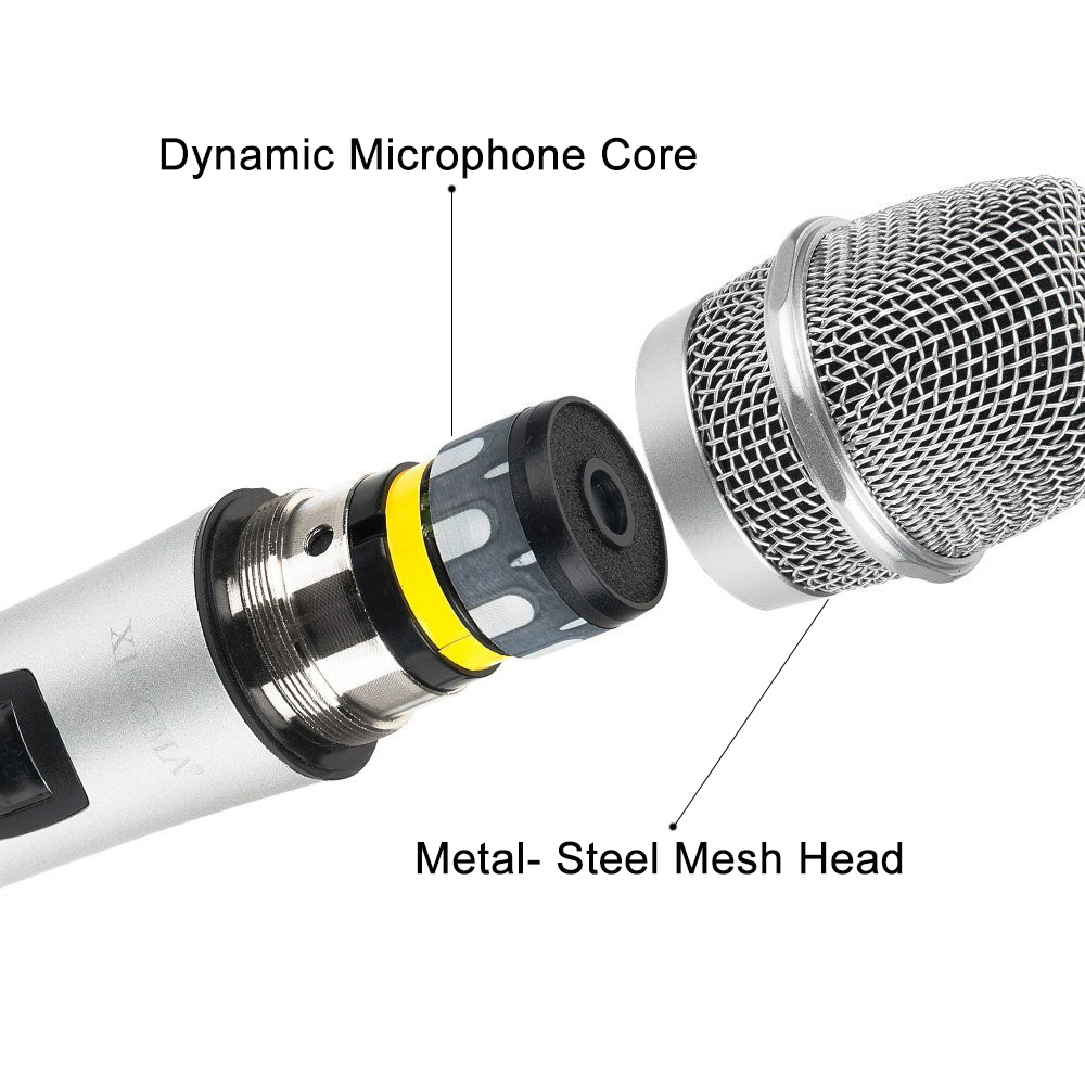 XINGMA PC K6 Wireless Microphone For Karaoke Professional Handheld Studio Vhf Dynamic Mic For Computer KTV System With battery in Microphones from Consumer Electronics