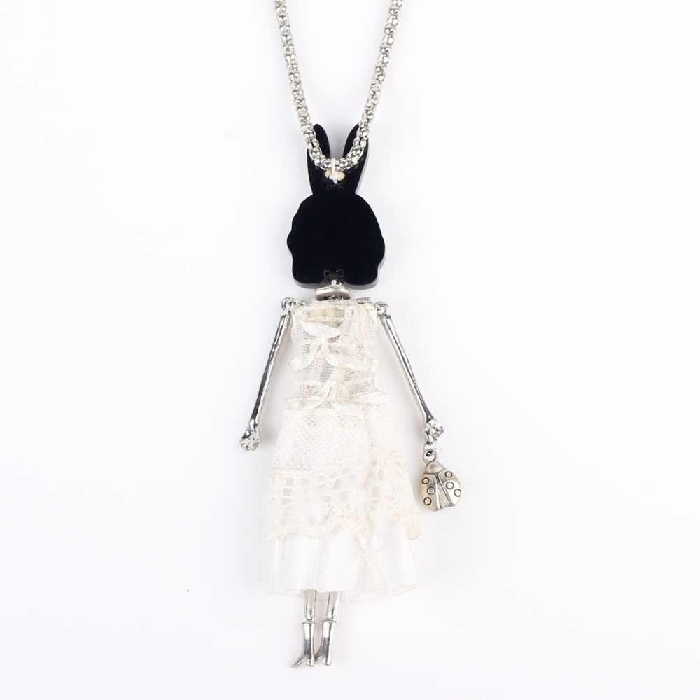 Bonsny кукла ручной работы смелое ожерелье Макси цепочка для мужчин в стиле хип-хоп 2015 сплав богемные новости милый чокер девушки женские аксессуары