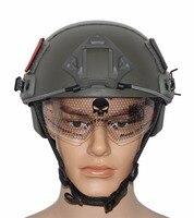 VILEAD 5 צבעים JF-MH מהיר גרסת קסדה עם משקפי מגן טקטיים הצבאי Airsoft MH קסדה חיצוני פעילויות משחק