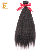AOSUN HAIR Brazilian Coarse Yaki Straight Hair Weave Bundles 100% Remy Human Hair Extensions 8 28 inches 1 Piece Hair Bundles