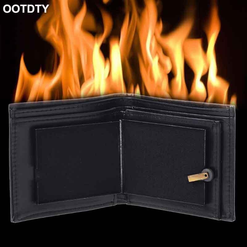 Flamme feu portefeuille magicien accessoires portefeuille rue scène spectacle Profession tour de magie