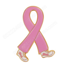 Breast Cancer Awareness Walking Pink Ribbon Lapel Pins