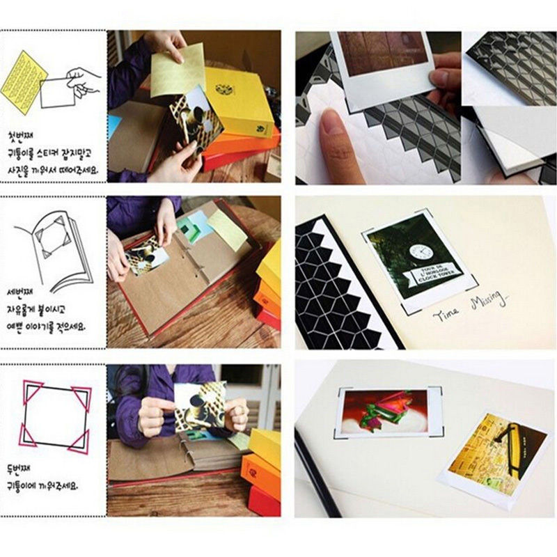 PVC Paper Sticker DIY Memo Stickers Scrapbook Photo Album Frame Corner Sticker Home Decor