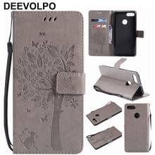 Coque Karte Slot Leder Handy Taschen Für Xiaomi 5 6 5X Mix 2 Redmi 3 3S Note3 Hinweis 4X mi5 Mi6 Baum Katze Schmetterling Präge P06H