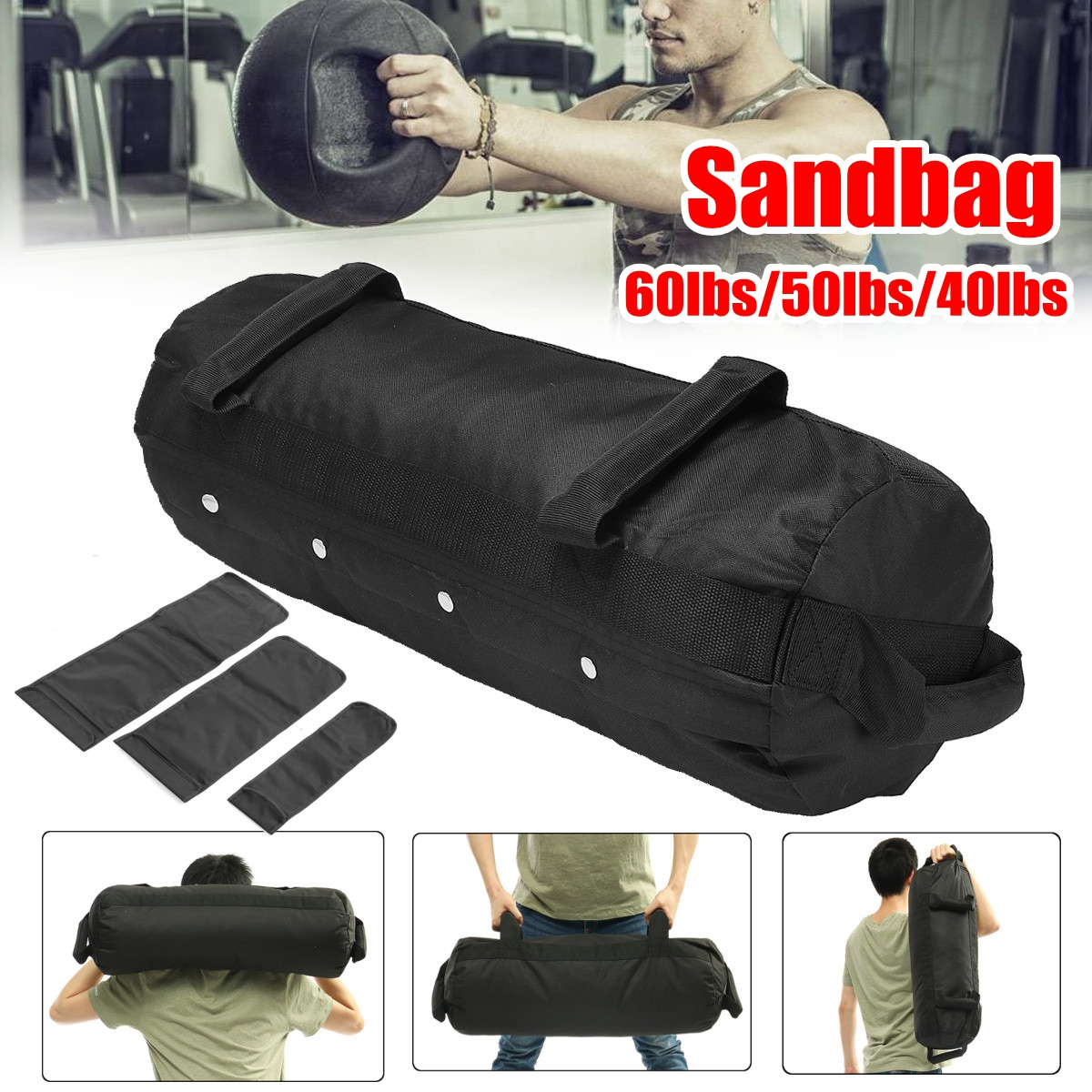 4 Pcs/Set Weightlifting Sandbag Heavy  Sand Bags Sand Bag MMA Boxing  Military Power Training Body Fitness Equipment