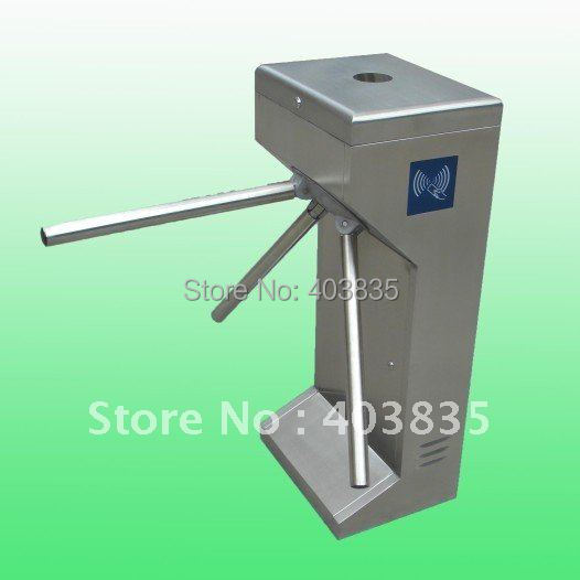 TCP/IP Waist-High Semi-Automatic Tripod Turnstile with Rfid Card Reading Funciton 304 stainless steel semi automatic tripod turnstile