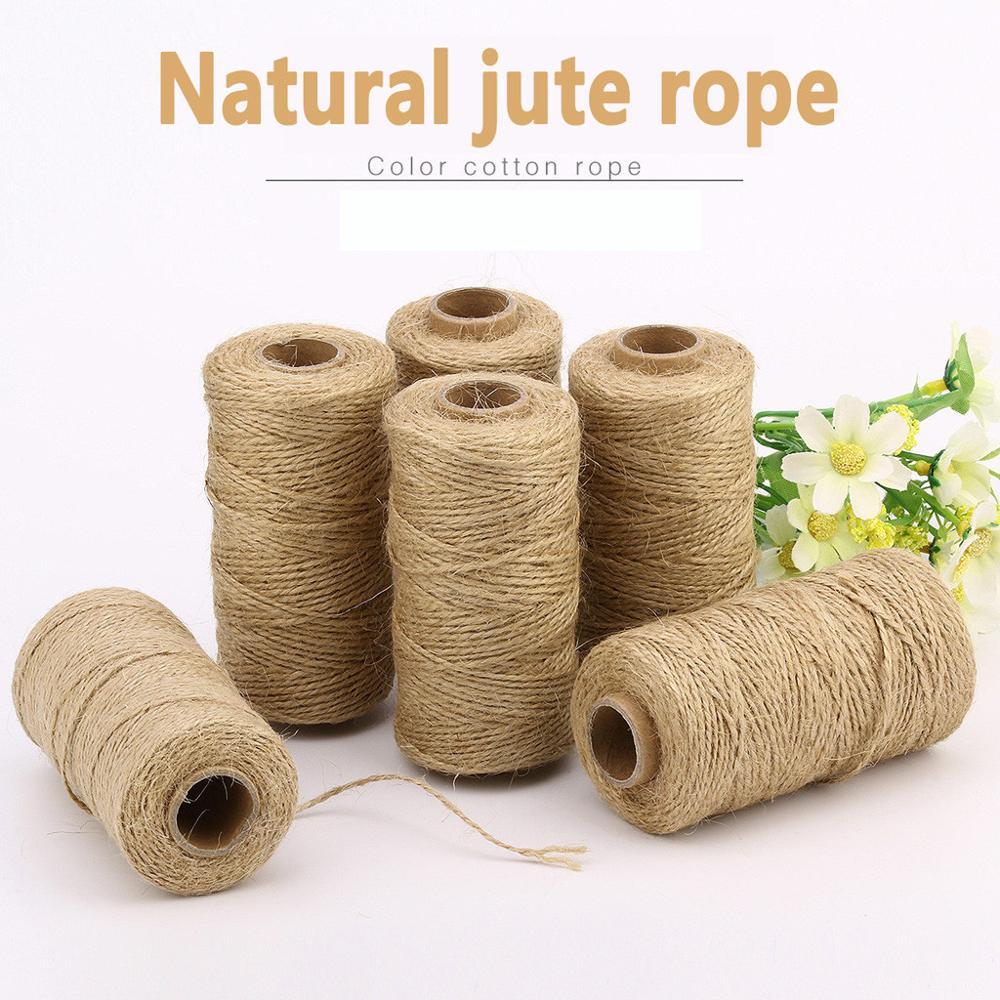 100M 1mm DIY Twisted Craft Rope Natural Burlap Jute Twine Hemp Linen Cord String