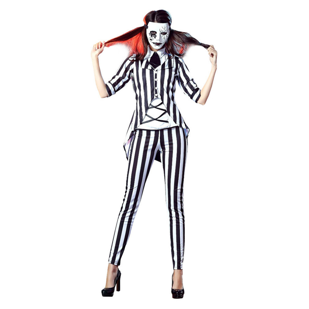 Vocole Adult Women Halloween Horror Graveyard Ghost Costume Beetlejuice Role Cosplay Fancy Dress Buy At The Price Of 25 19 In Aliexpress Com Imall Com