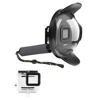Top Deals SHOOT Underwater Dome Port for GoPro HERO6 HERO5 HERO2018(Dome Port+Waterproof Case+Handle)