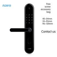 Xiaomi Aqara S2 Smart Door Lock Work With Mi Home App For Smart Home Kit Fingerprint Intelligent Lock High Recognition Password