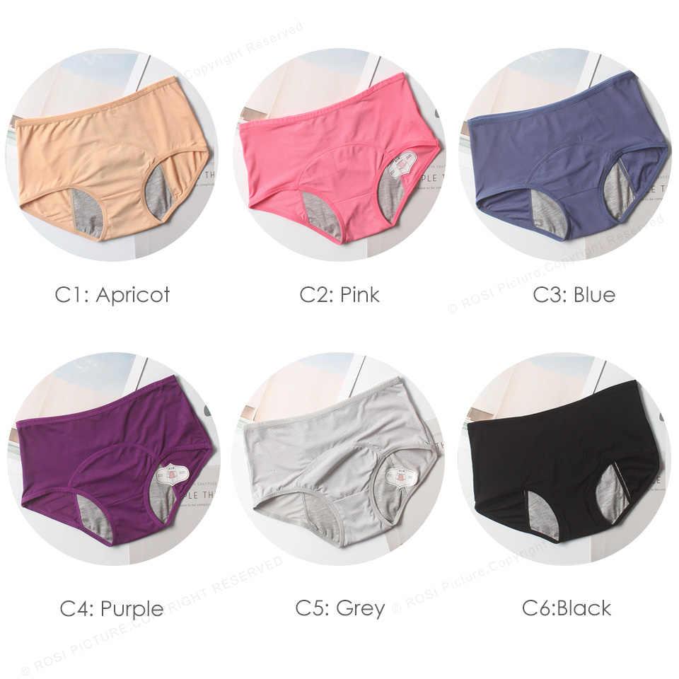 Besar Ukuran 6XL 7XL 8XL Pink Periode Menstruasi Celana Dalam Kenyamanan Mesh Celana Dalam Wanita Pakaian Dalam Wanita Tinggi Pinggang Celana Pakaian Dalam Wanita