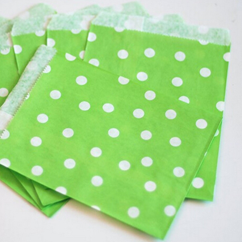 Colorful Polka Dots Greaseproof Paper Gift Bags Bulk For Wedding And Birthday Party Supplies 50pcs Lot 175125cm In Wrapping From