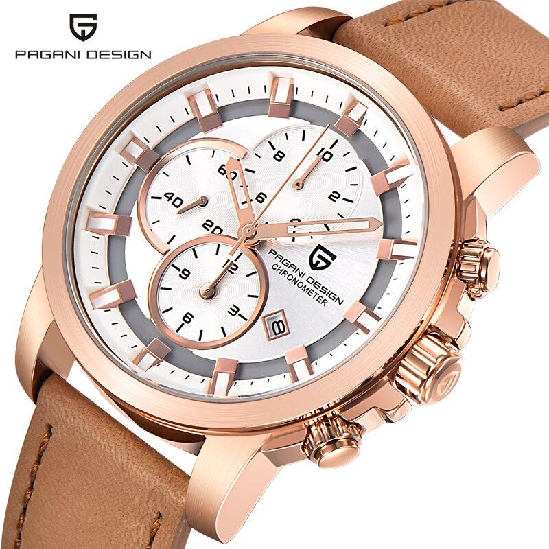 New PAGANI DESIGN Luxury Brand Chronograph Watches Men Quartz Fashion Casual Male Sports Watch Date Clock Military Wristwatches