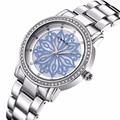 Relojes de mujer de Marca Reloj de Señoras Reloj de acero de Moda de Lujo Crystal Rhinestone Chispeante CRRJU Reloj de Cuarzo reloj de pulsera relojes