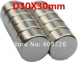 N35 NdFeB D30MM X30MM strongmagnet lodestone постоянный магнит 2 шт./лот