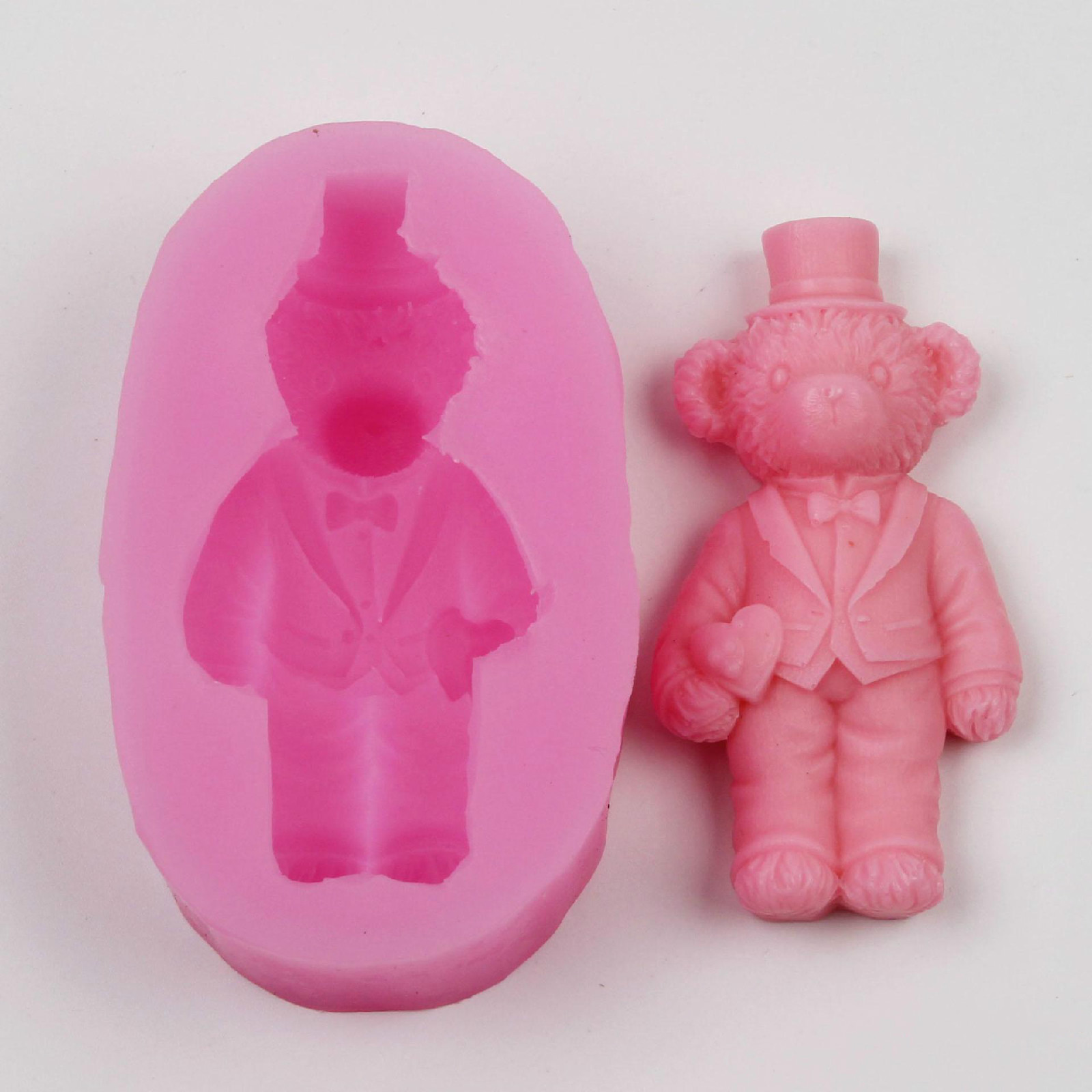 bear silicone mold resin pendant mould die DIY Craft Clay Making Handmade Plaster Silicone Mould