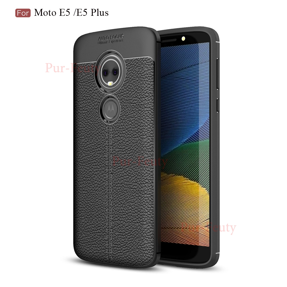 Case For Motorola Moto E5 E 5 Plus XT1924-<font><b>4</b></font> Cell Luxury Leather Soft Silicone back Cover Fundas For Motorola MOTO E5 E 5 <font><b>XT1944</b></font> image