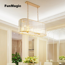 Luxury K9 Crystal Chandelier Chain Pendant Living Room Restaurant Light Ceiling Fixture Dining Room Lamp Bedroom Lighting Golden european style luxury 6 lights led chandelier crystal home ceiling fixture pendant lamp lighting dining room bedroom living room