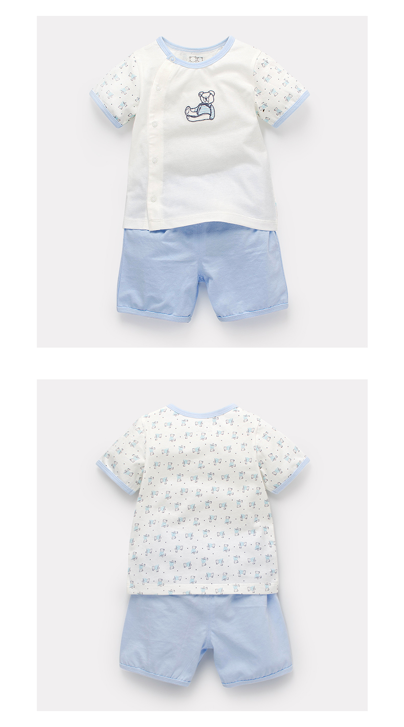 Dinstry 2018 Summer 1-4 Year boys clothes England style sets for the boy & girl Short sleeve children sets kids clothes