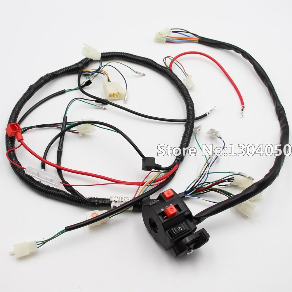 quad wiring harness & multi-functional atv switch cb cg 150cc 200cc 250cc  chinese electric start loncin zongshen ducar lifan new