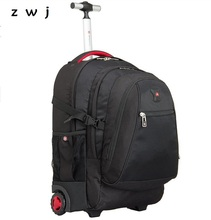 Business Men Trolley Travel Bag Light weight Carry on luggage Check in Bags Rolling 17 inch Trolley Backpack