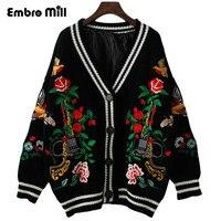Women Cardigans Open Stitch Knit Oversized V neck christmas Sweater Cardigans Loose white tricot Cardigan Jacket Coat female