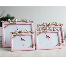 Three Birds Art Photo Frame European Pastoral Style Picture 5/6/7/8 Inch Cadre Wooden Grain Creative Frames