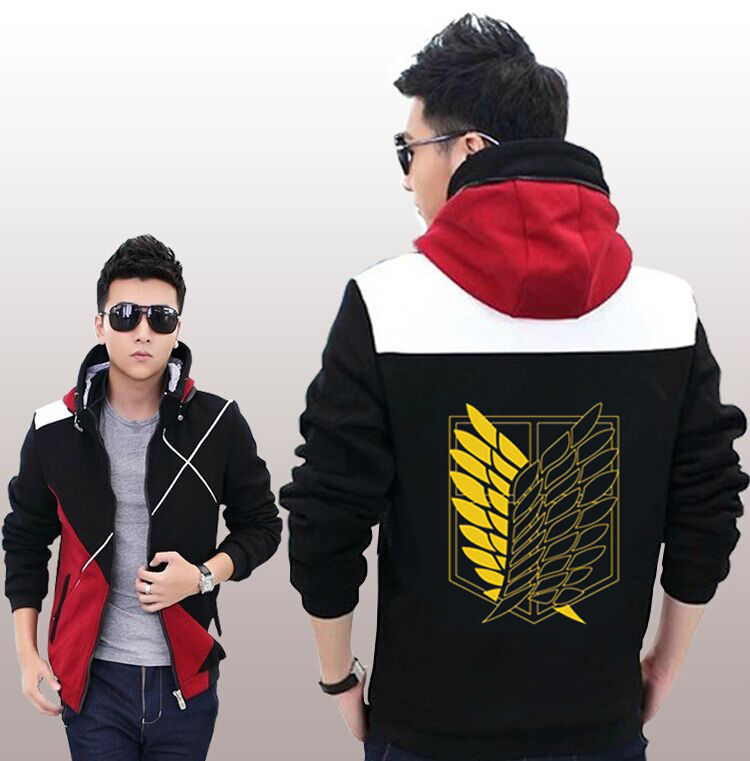 Cool Anime Attack on Titan Hoodies Zipper Sweatshirts Hoodie Coat Jacket MEN WOMEN Top Clothing for Spring & Autumn