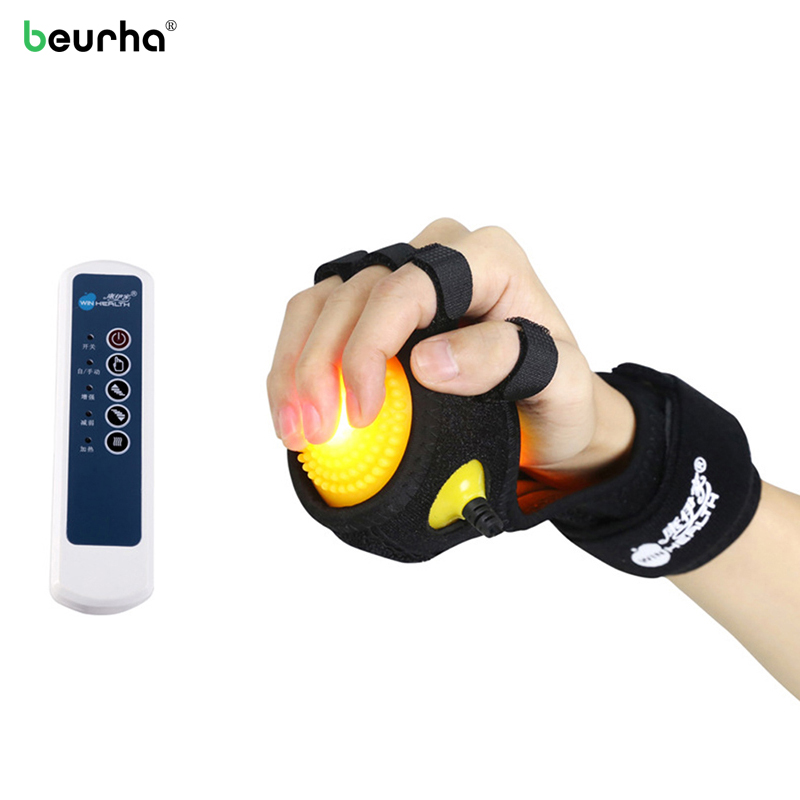 Infrared Heating Compress Finger Hand Massage Ball Physiotherapy for Finger Apoplexy Hemiplegia Spasm Dystonia Hemiplegia Stroke upper lower limbs physiotherapy rehabilitation exercise therapy bike for serious hemiplegia apoplexy stroke patient lying in bed