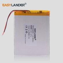 3580110 5000 мА/ч, литий-ионный аккумулятор 3,7 V батарейка таблетка 8 дюймов N83, N86 A86 A85 джемпер EZBOOK 3 Pro