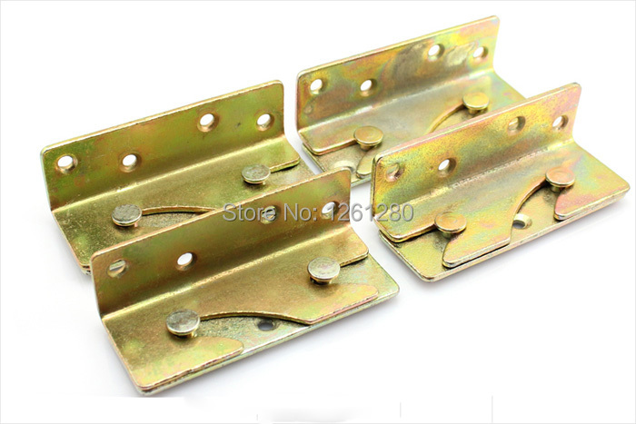 free shipping furniture hinge Thickened Cold Rolled Steel bed fitting invisible bed hinge furniture hardware bed parts household за сколько можно костюм человека паука