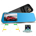 "Car Dvr Review Mirror Full HD 1080P 4.3""LCD Digital Video Recorder Registrator Night Vision Camcorder Auto Dash Cam"