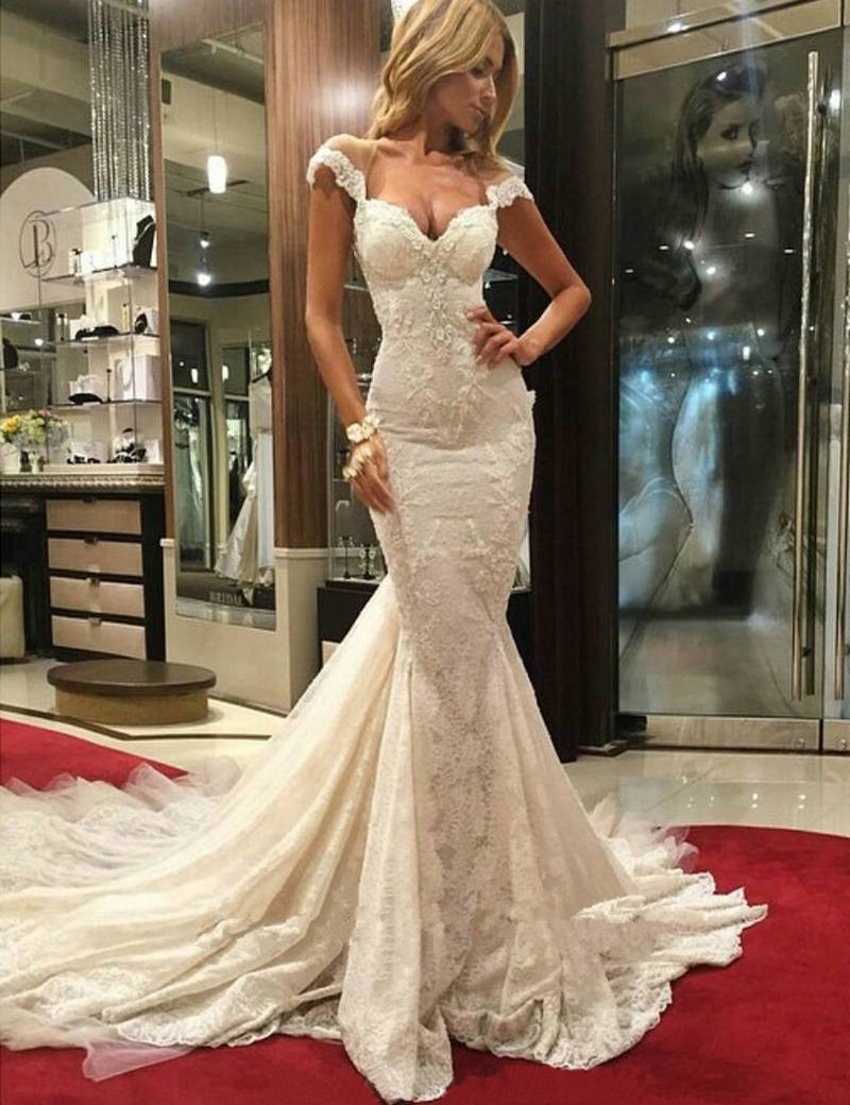 Sexy wedding dresses mermaid backless sweetheart neckline for Sexy lace wedding dresses