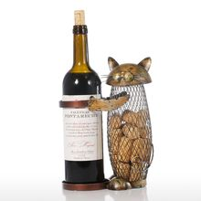 Wine holder creative Home Furnishing ornaments modern metal decoration crafts gift wholesale mesh cat wine rack bar set Barware