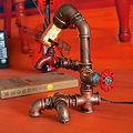 New Arrive Desk Lamp Creative Personality Retro Industrial Water Pipe Table Lamp American Bar Cafe Desk Lighting