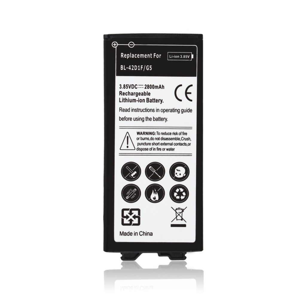 High Quality 2800mAh BL-42D1F 3.85VDC Replacement Li-ion Battery For <font><b>LG</b></font> <font><b>G5</b></font> Batterie <font><b>Bateria</b></font> Batterij image
