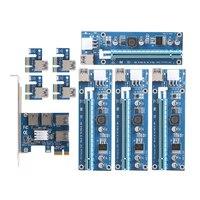 NEW Card PCIe 1 To 4PCI Express 16X Slots Riser Card PCI E 1X To External