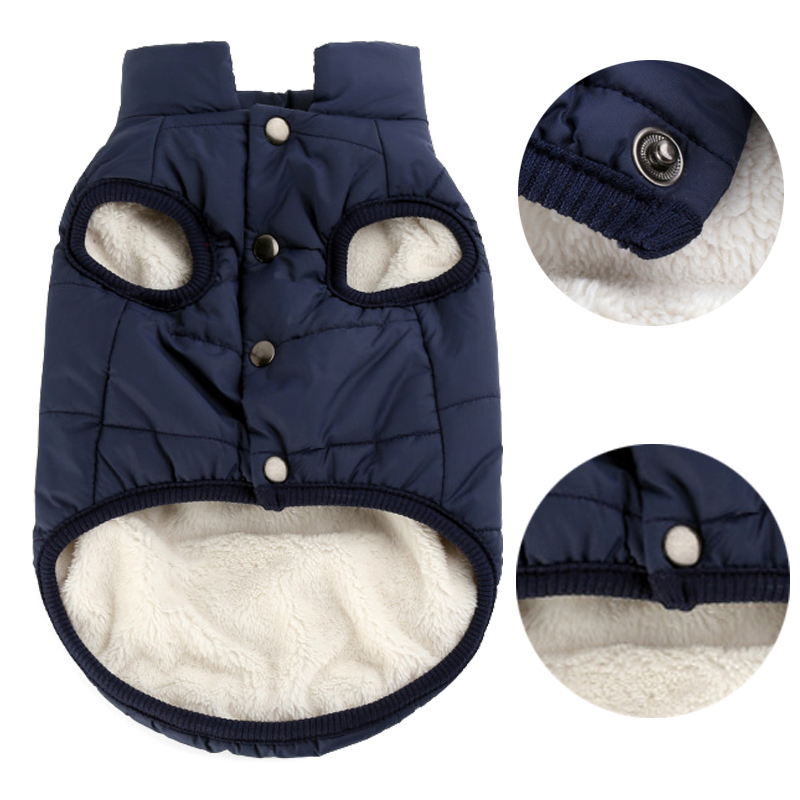 Pet Dog Vest Jacket Clothing Autumn Winter Windproof Warm Dog Clothes Coat For Small Medium Large Dogs Xs-3xl