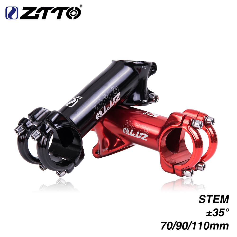 ZTTO 70 90 110mm 35 degree High-Strength Lightweight 31.8mm polished Stem for XC AM MTB Mountain Road Bike glossy Bicycle part