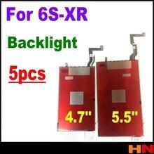 5 sztuk dla iPhoneXR 6S 7 8 plus podświetlenie LCD płyta LCD 3D dotykowy folia podświetlenia tylne światło Refurbishm 4.7 cal