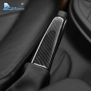 Image 2 - Carbon Fiber Universal Car Handbrake Grips Cover Interior for BMW 1 2 3 4 Series E46 E90 E92 E60 E39 F30 F34 F10 F20 Accessories