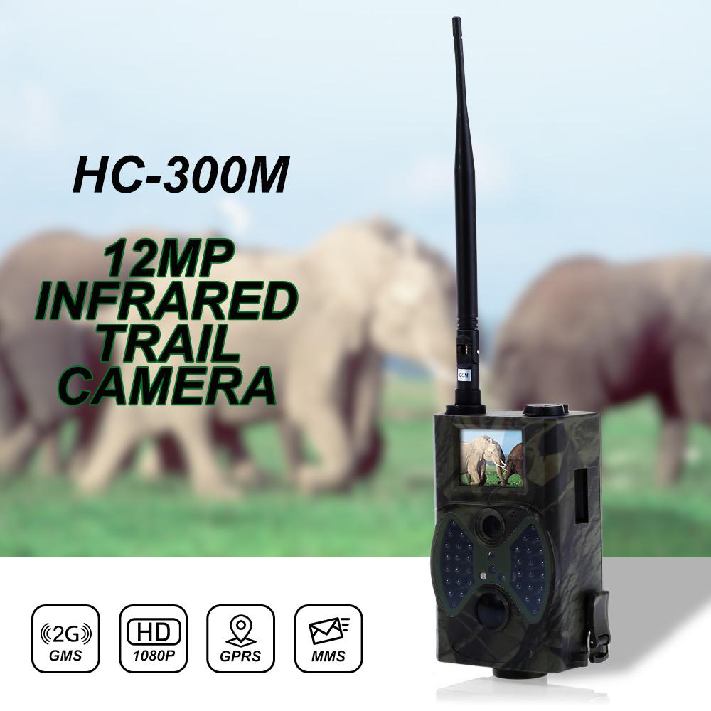 Prix pour HC300M 12MP 940nm AUCUNE Lueur Trail Caméras MMS GPRS Numérique Scoutisme Chasse Caméra Piège Jeu Caméras Vision Nocturne de La Faune Caméra