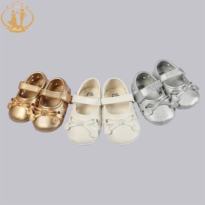 065a8e51b Nimble/детская обувь для девочек серый золотой одноцветное Бабочка-узел детская  обувь кроссовки для
