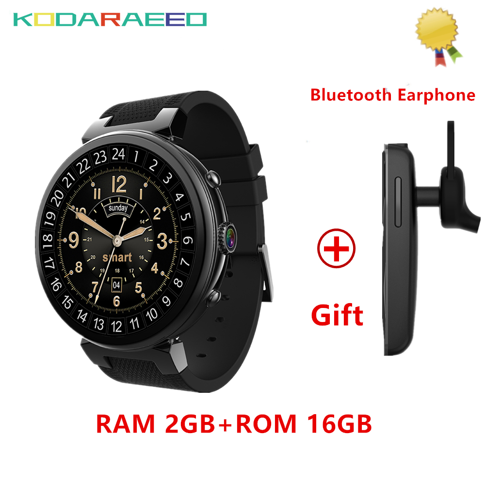 I6 Smart Watch Android 5.1 MTK6580 Quad Core 1.3GHz 2GB RAM 16GB ROM Smartwatch Support 3G GPS WIFI Google Play+Free Headset
