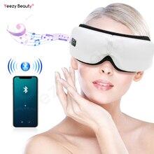 Smart Bluetooth Music Eye Massager Mask Wireless Air Pressure Hot Compress Vibrate Relieve Dark Circles Eye Fatigue Eyes Care недорого
