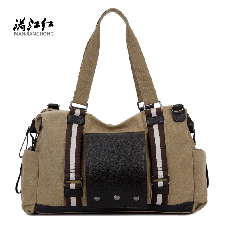 MANJIANGHONG Vintage Men handbag High capacity travel bag men canvas shoulder bag Business Casual laptop bag Crossbody handbags
