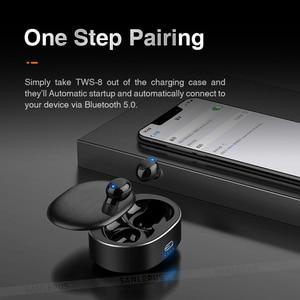 Image 4 - Sanlepus tws 5.0ミニbluetoothイヤホンワイヤレススポーツヘッドフォン3Dステレオヘッドセットとマイク
