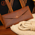 Foreign trade new retro Crazy Horse Leather Purse Wallet envelope simple casual fashion