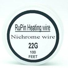 RuPin Нихромовой проволоки 22 Калибра 100 FT 0.6 мм Сопротивление Wrie Резистор AWG